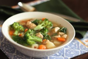 chicken vegetable soup with red potatoes 8