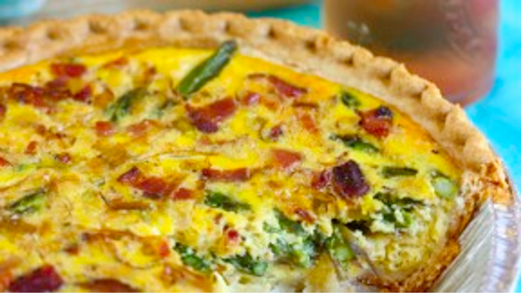 The Bachelor's Kitchen » Asparagus, Leek, and Bacon Quiche