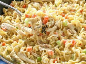 Skillet chicken noodle