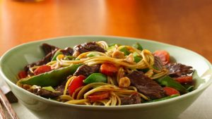 Asian Beef and Noodle Bowl