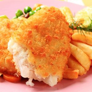 Oven Fried Fish with chips