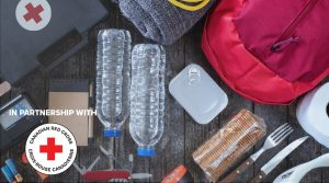 Home Emergency Kit recommended by the American Red Cross.
