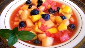 Cold Summer Fruit Soup.