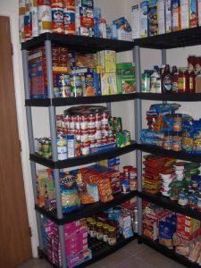 Home emergency food pantry.