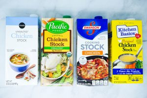 Store-bought chicken stocks.