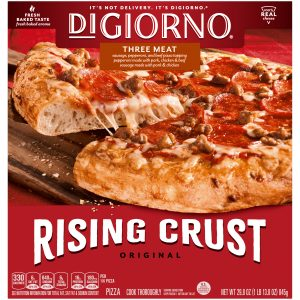 A popular self-rising pizza brand with a wider outside crust that is good for added seasonings.